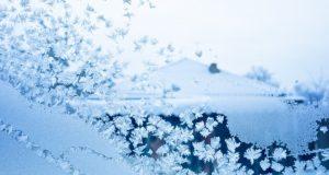 mraz po staklu šara
