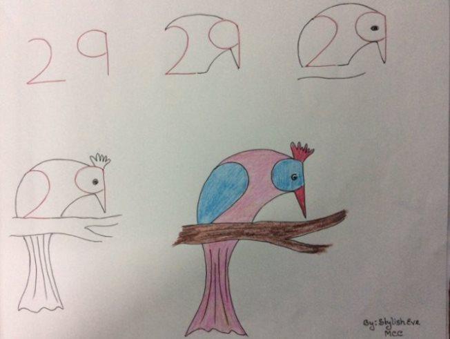 Kako crtati životinje pomoću brojeva (crtanje za decu