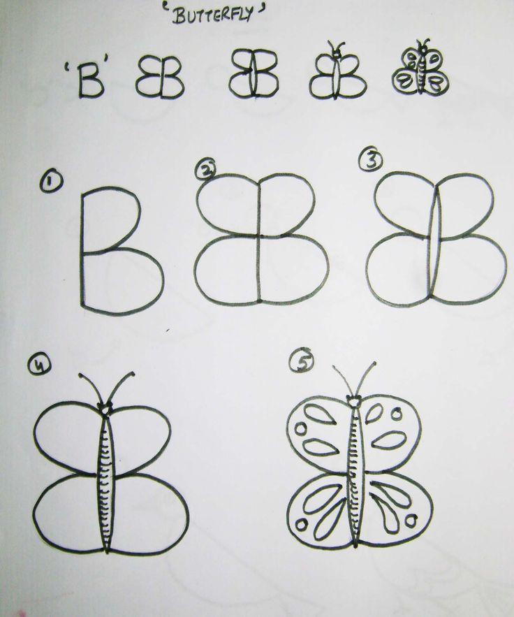 Како цртати животиње помоћу слова (цртање за децу – корак по корак)