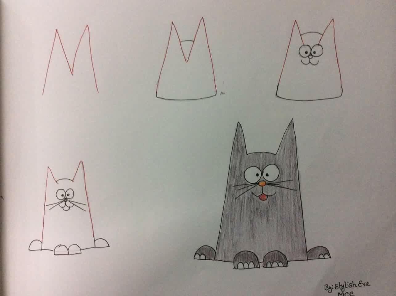 Kako Crtati životinje Pomoću Slova Crtanje Za Decu Korak