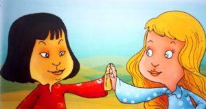 Bela i žuta devojčica