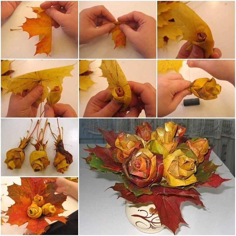 jesenji-kreativni-projekat-ruže-lišće